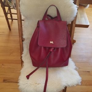 MICHAEL  MICHAEL KORS Leather Backpack Purse